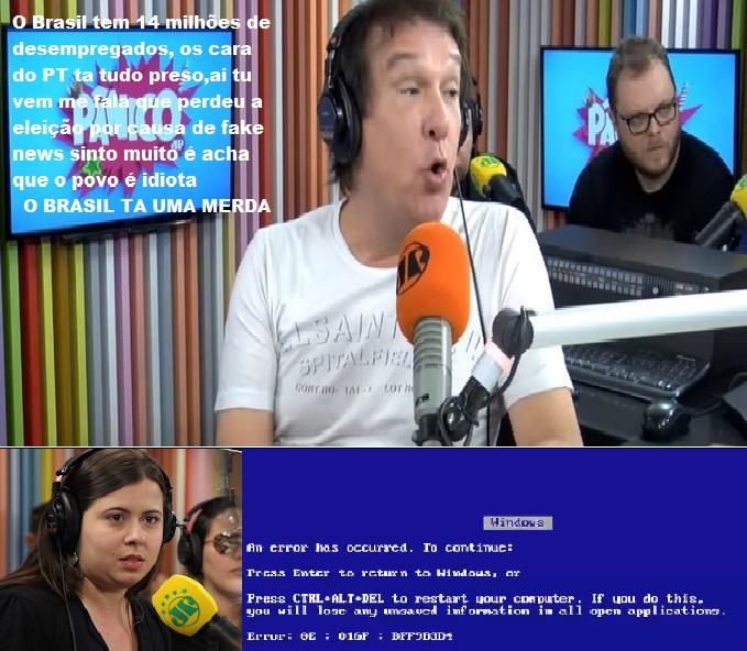 Vai dize que ta perdendo a eleição pelo fake news O BRASIL TA UMA MERDA - meme