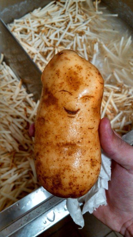 la pomme de terre heureuse - meme