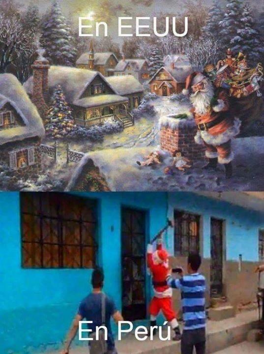 Santa espera que ya abro :v - meme