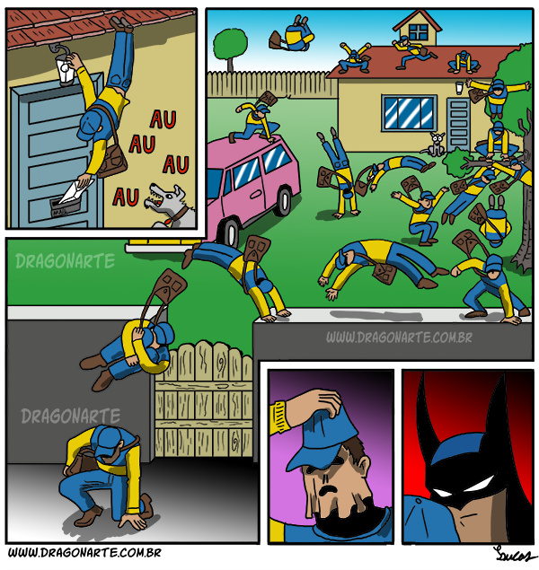 Bat by night, mail man by day - meme