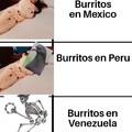 Tipos de burrito en diferentes países