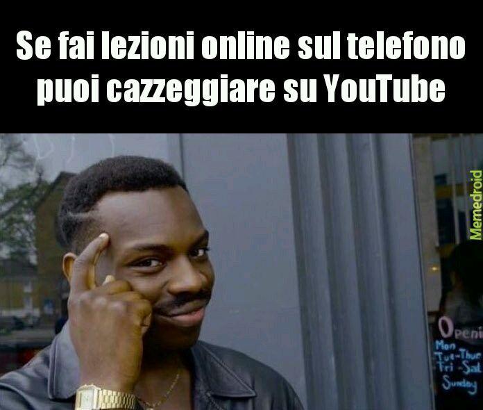 Lezioni online - meme