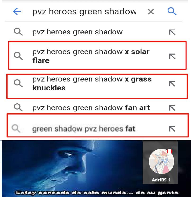 Green shadow=Sombra verde de pvz - meme