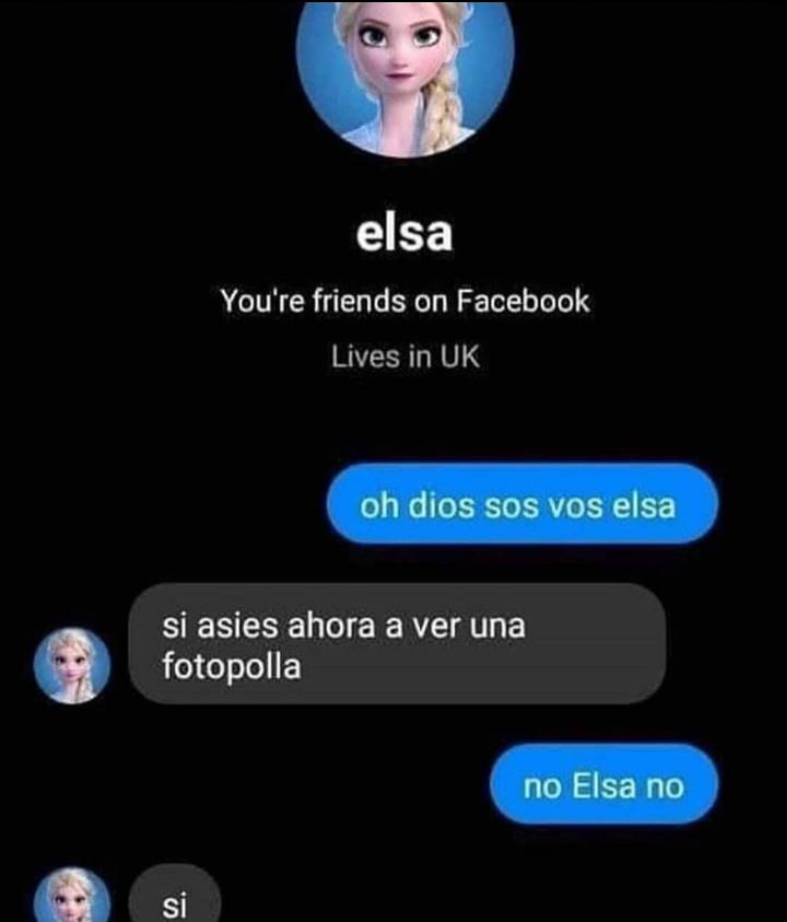 Elsa no - meme