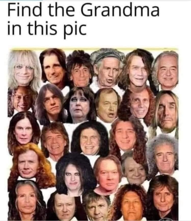 They all look like old women now - meme