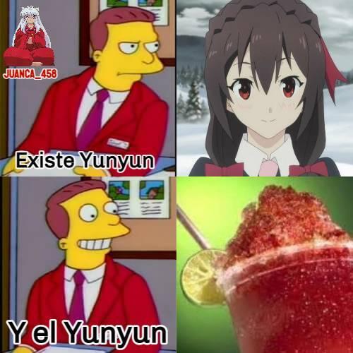 El yunyun son como los raspados lógicamente, nombrados en la República Dominicana - meme