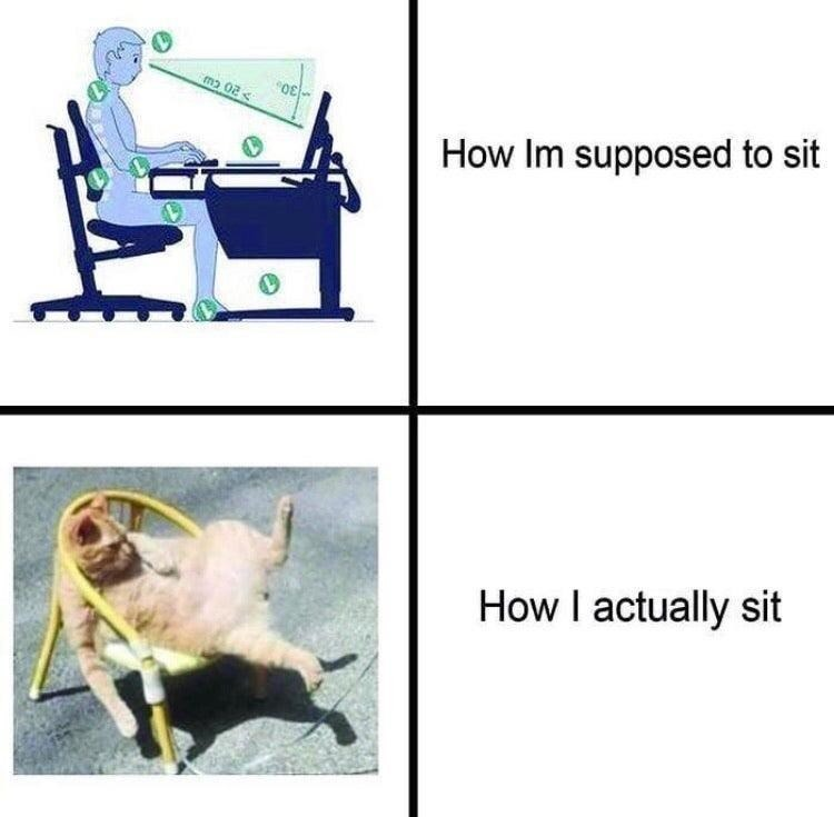 I'm sittin like that rn - meme