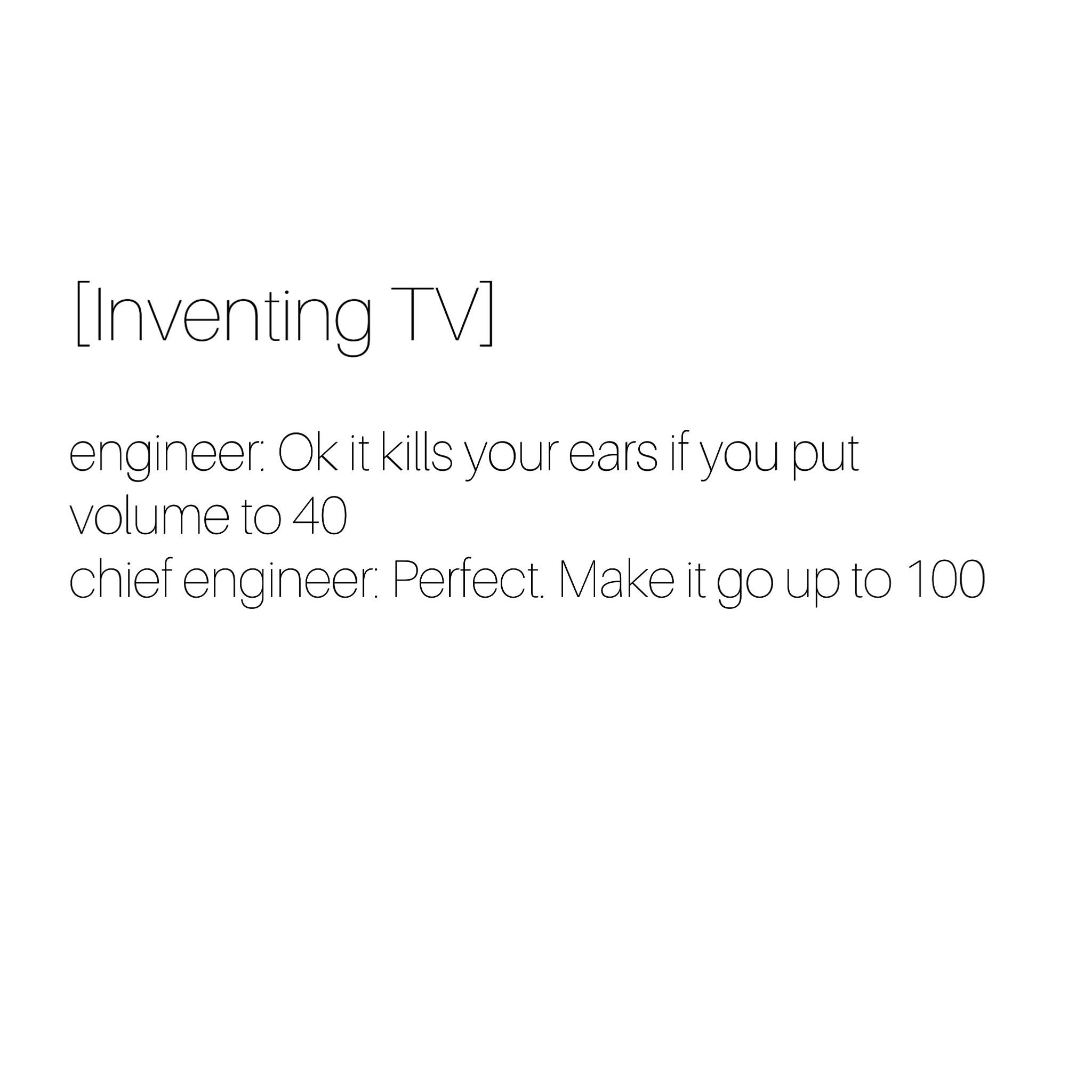 Inventing tv - meme