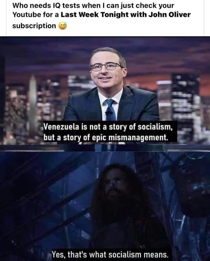 If it fails then it's not real socialism - meme
