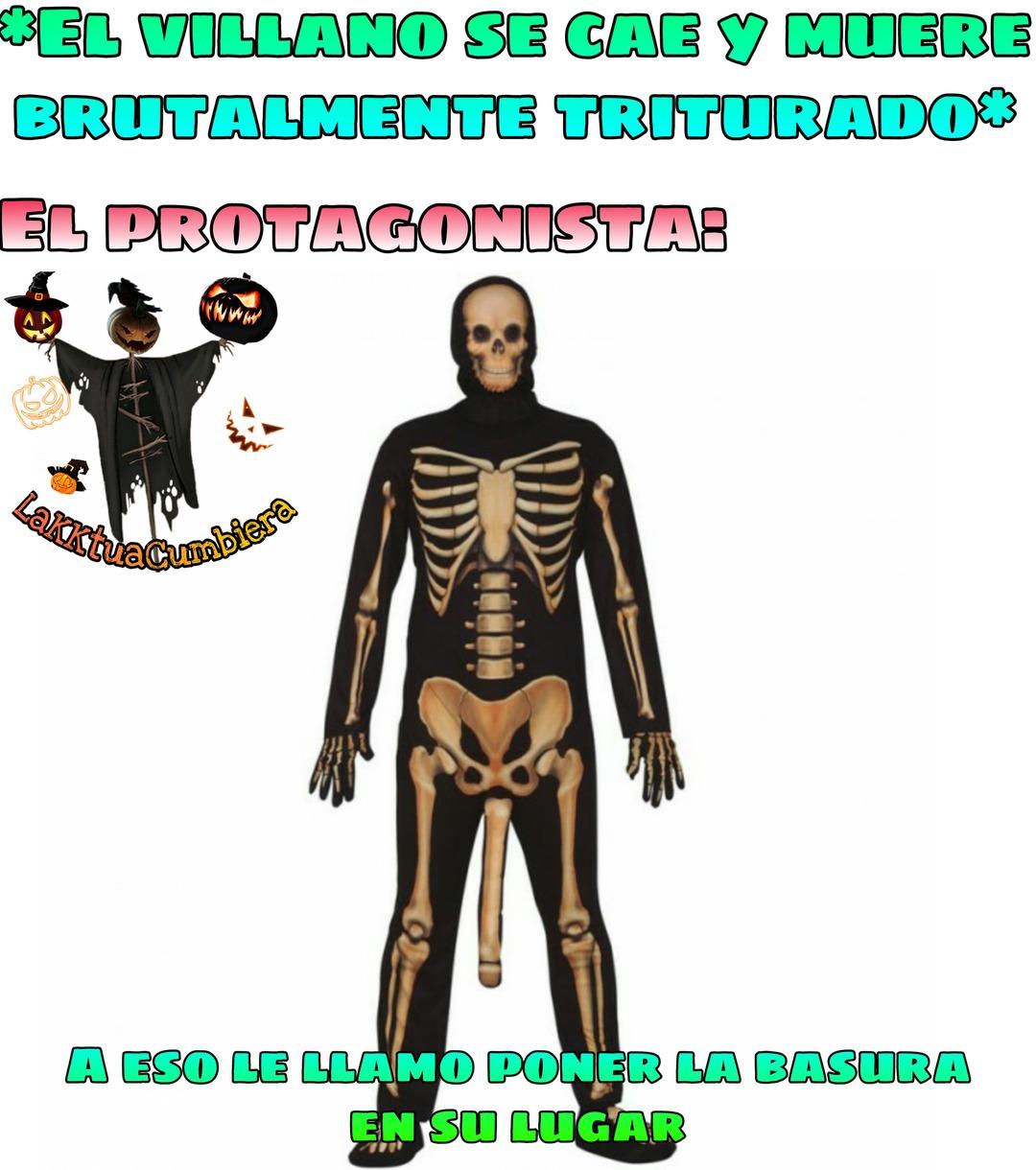 Me lo van a borra si se pregunta como consegui la plantilla solo  esqueleto elegante - meme