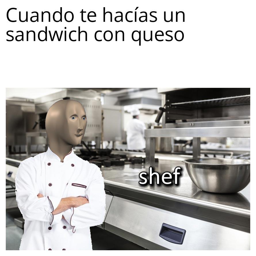 Pan con lechuga - meme