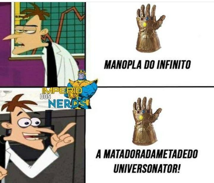 Thanos tem que aprender com o mestre - meme