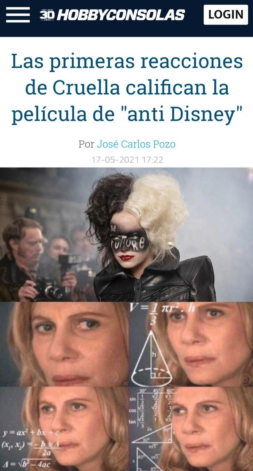 Como va a ser anti-disney si la hizo Disney??? - meme