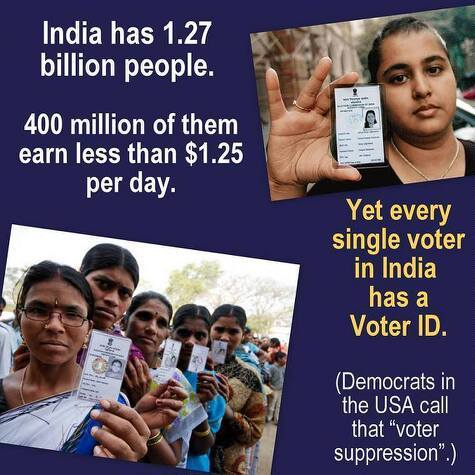 Why cant we have voter id? - meme