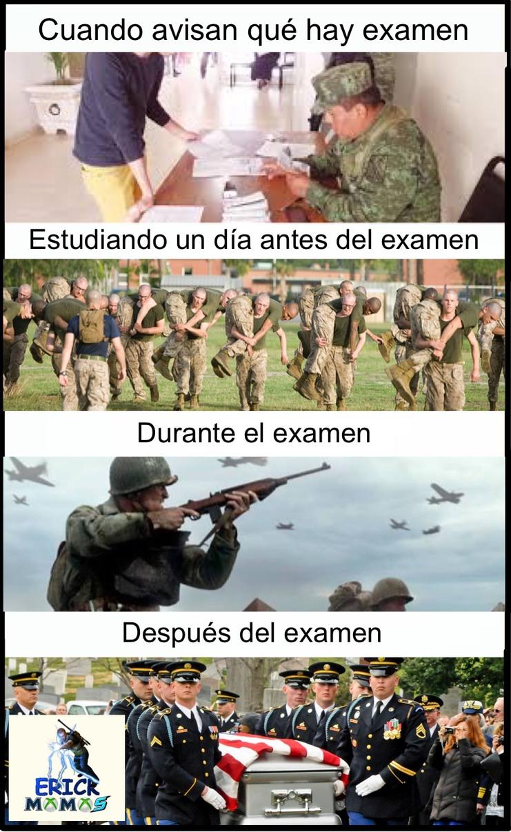 Día de examen - meme