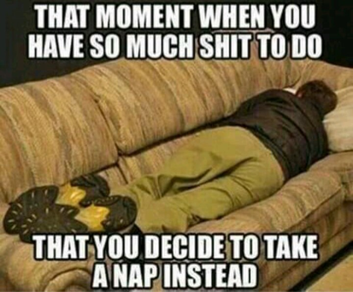 I like to take a pre nap nap before taking a nap and afterwards following up with a post nap nap. - meme