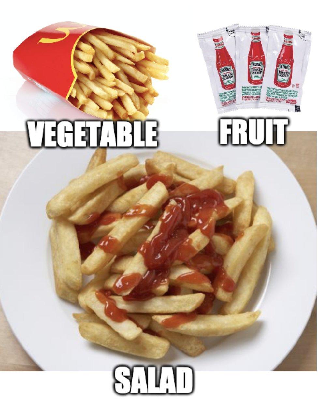 Its a salad - meme