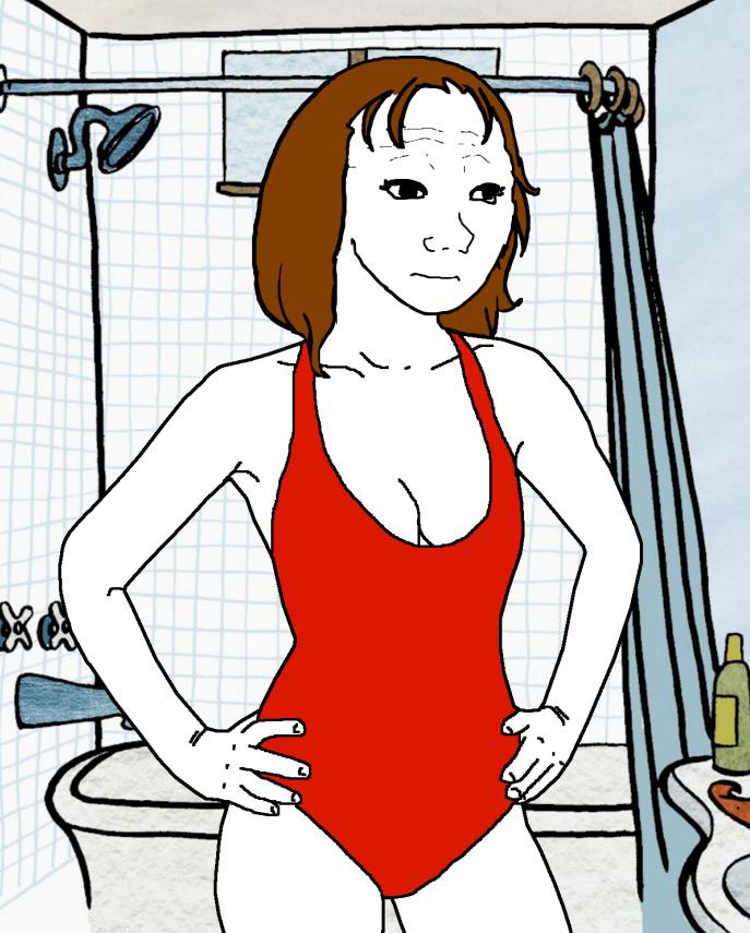 Mujer Wojak - meme
