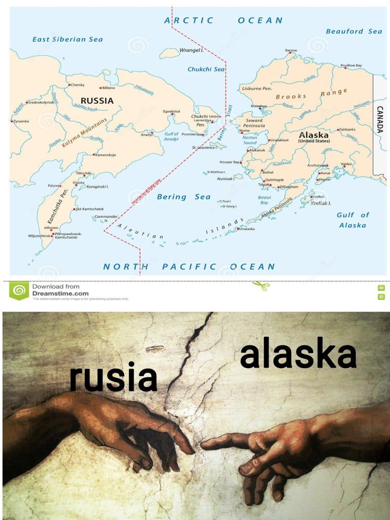 Rusia-Alaska - meme