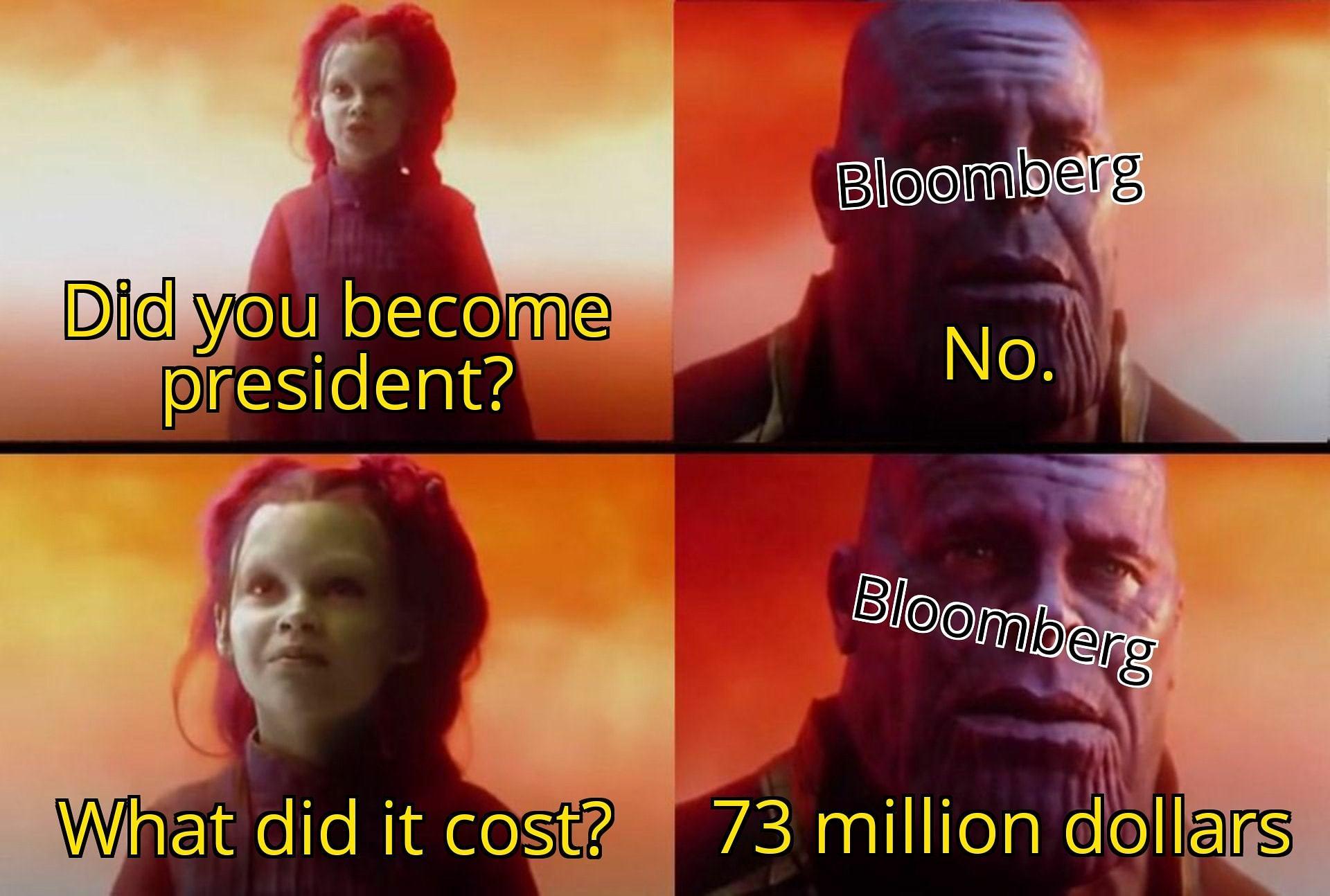 Mike Bloomberg campaign fail meme