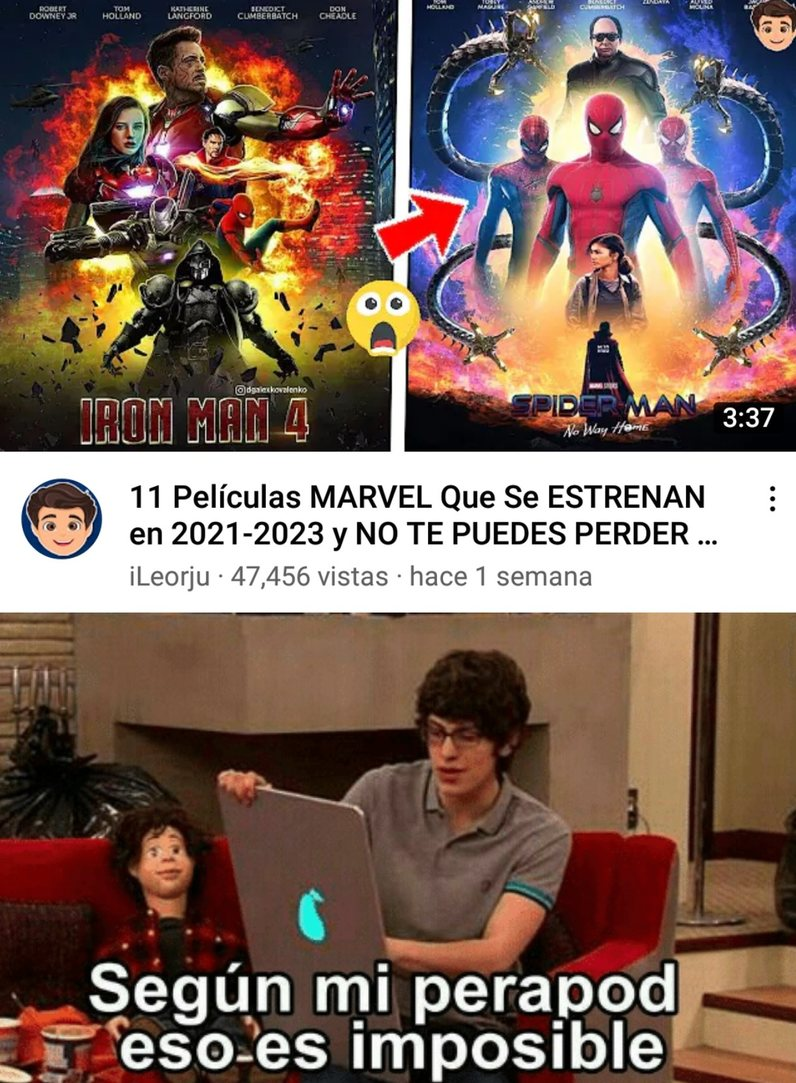 Iron Man esta muerto, como carajo van a hacer una cuarta parte??? - meme