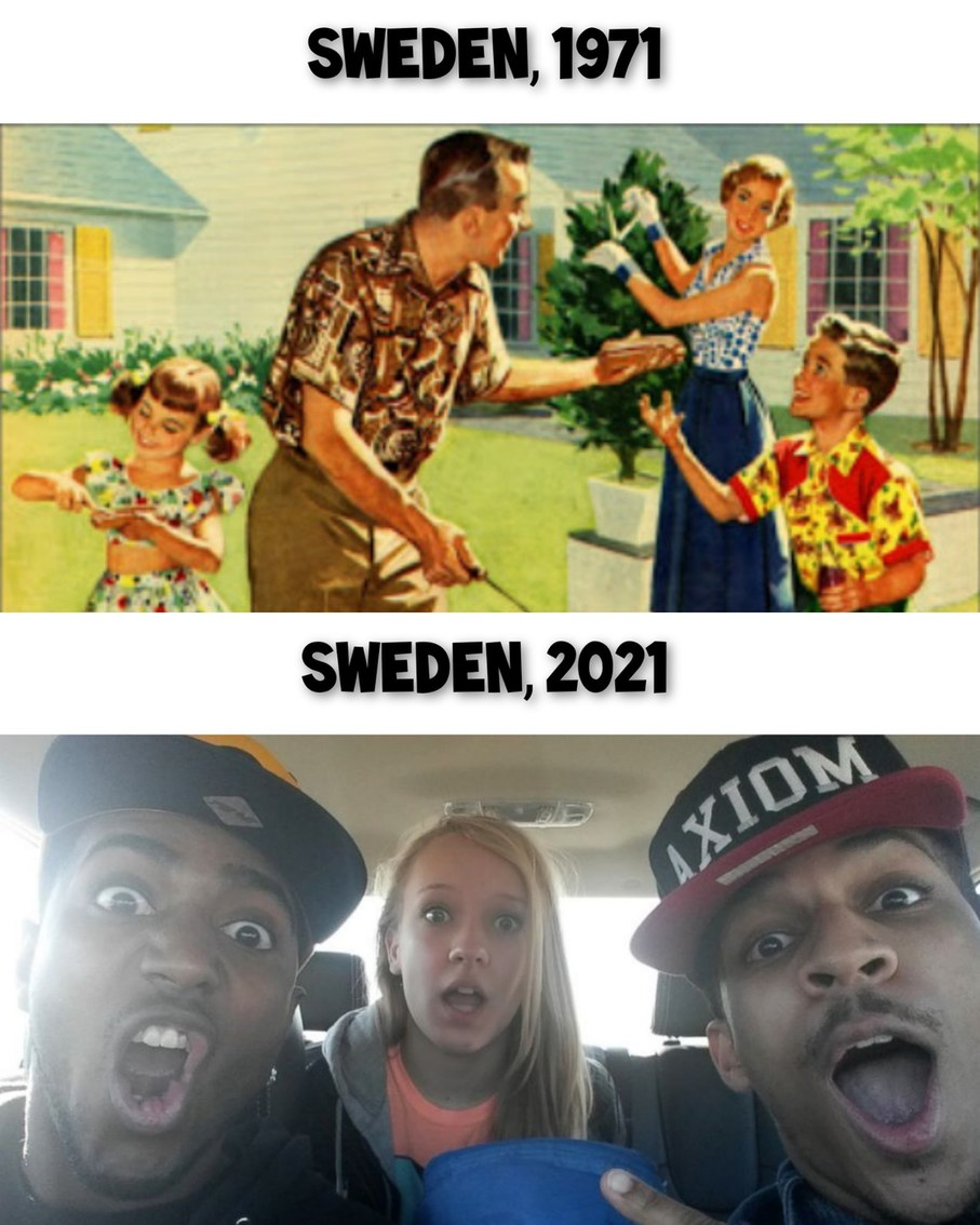 Sweden then and now - meme