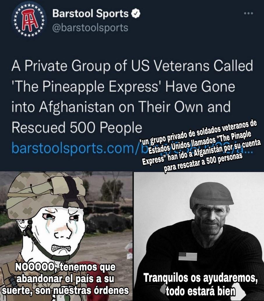 Altos soldados veteranos - meme