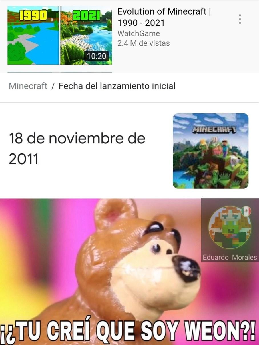 Que tiene que ver con Minecraft - meme