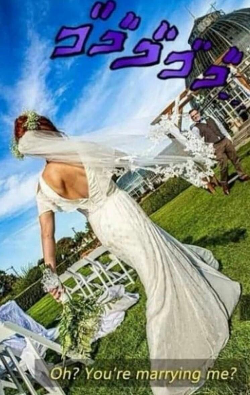 Lo prometido es deuda cabros aquí la jojo boda - meme