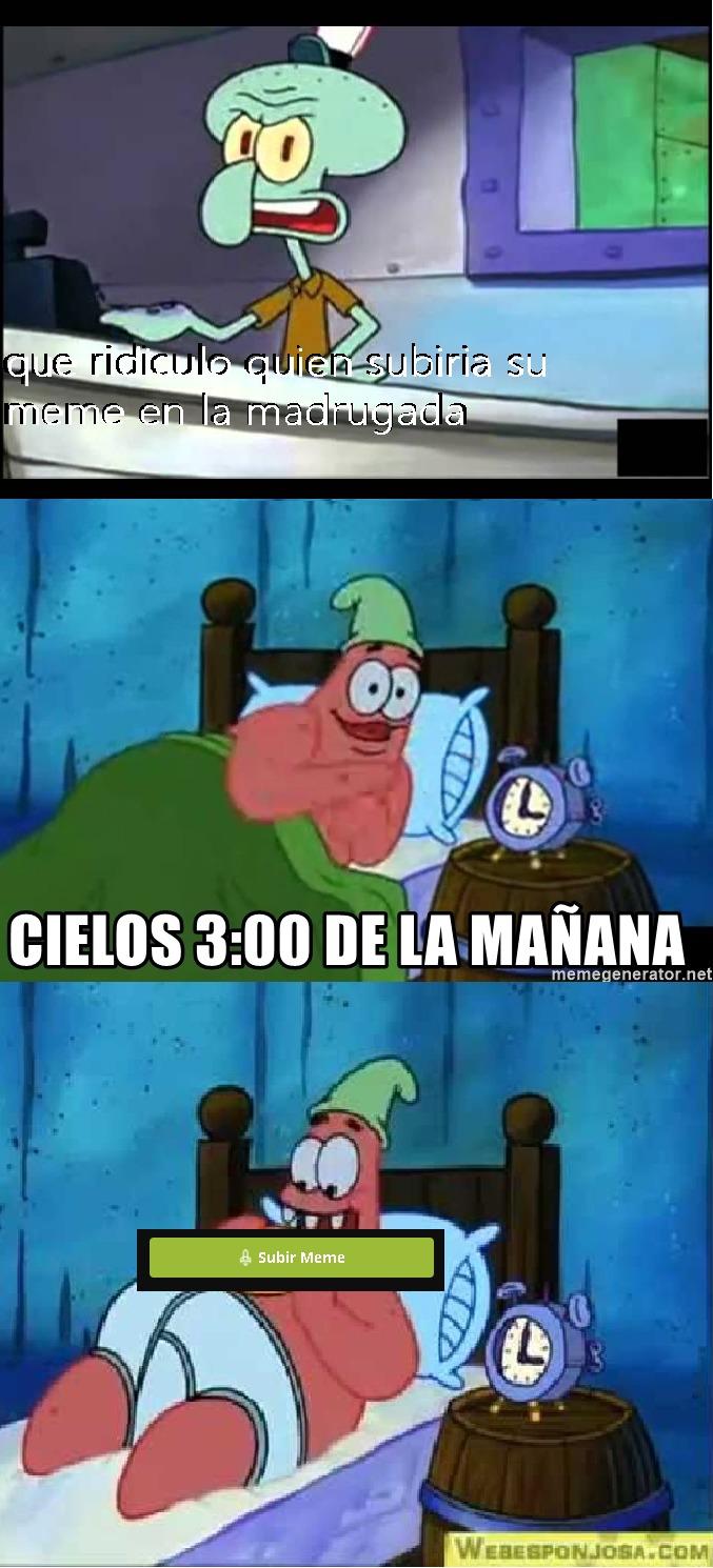 cielos 3 de la mañana - meme
