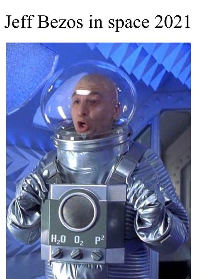 Jeff Bezos in space, 2021 - meme