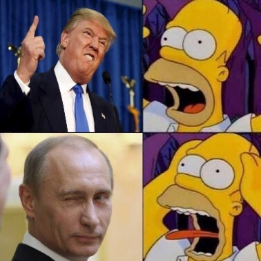 témanle más a Putin que al trompetas :v - meme