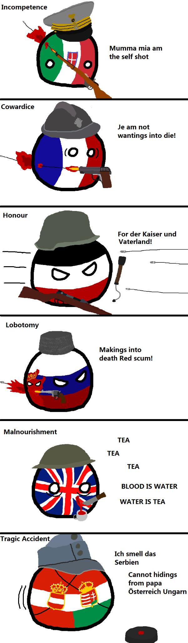 Self injuries of WW1 - meme
