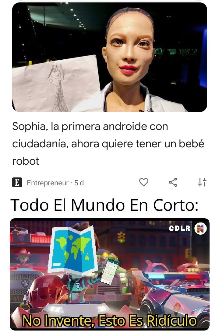 ¿Y Ahora Como Le Decimos Al Androide Con Su Bebé Robot? - meme