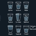 Glass half full ,glaass half emmpty,glass is being melted..