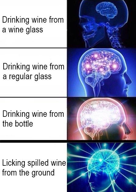 Wino forever - meme