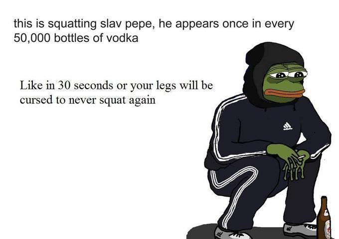 pepe squatting - meme
