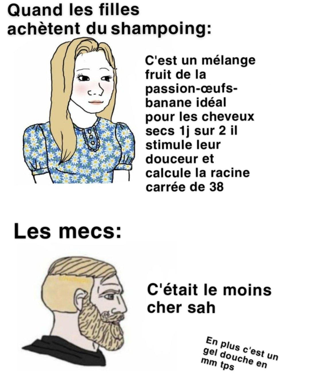 Le shampoing - meme