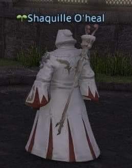 Shaq is white mage - meme