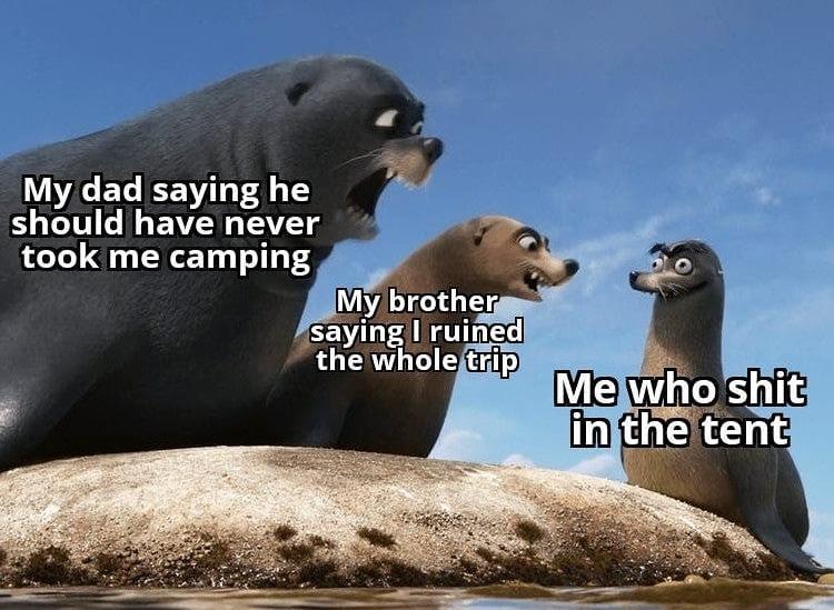 it was too dark outside - meme