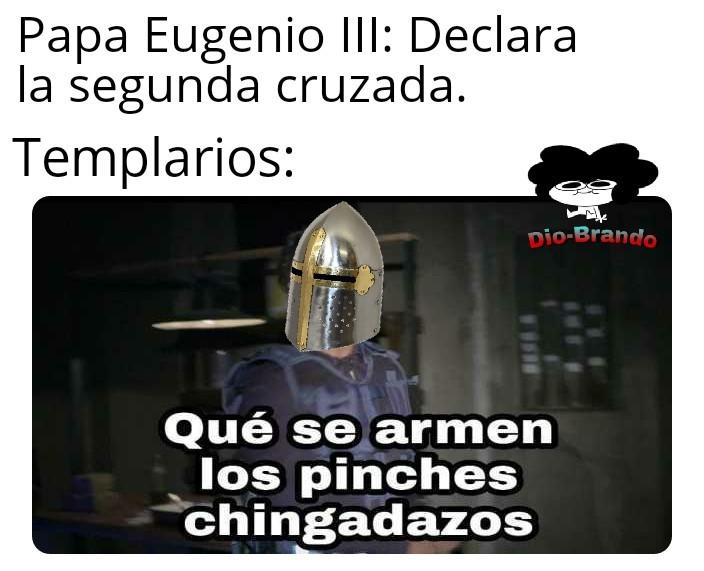 Fua chavales menudo lio las cruzadas - meme