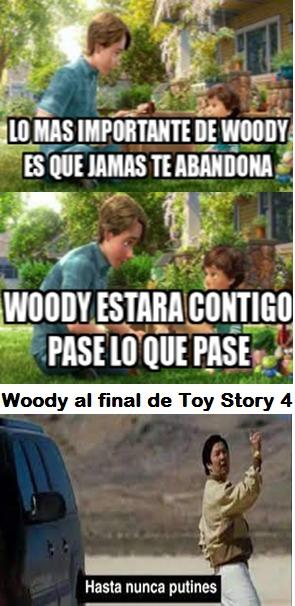 Andy se equivoco Woddy te abandona igual que Rexona - meme