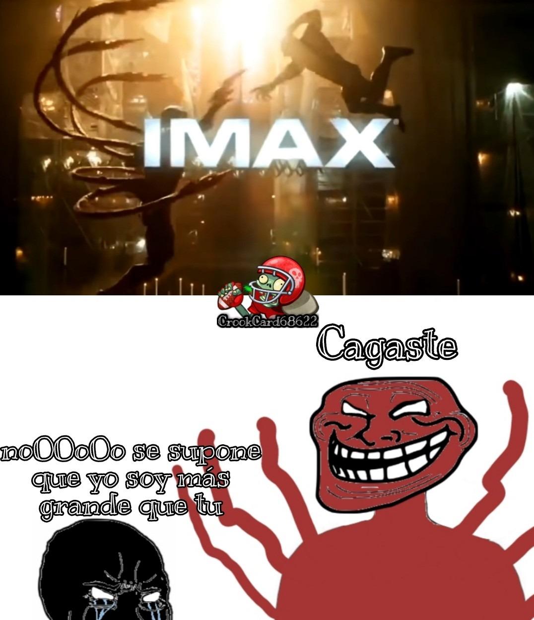 No veo como venom vencería a carnage en la película, Pd: eso es de un tv spot - meme