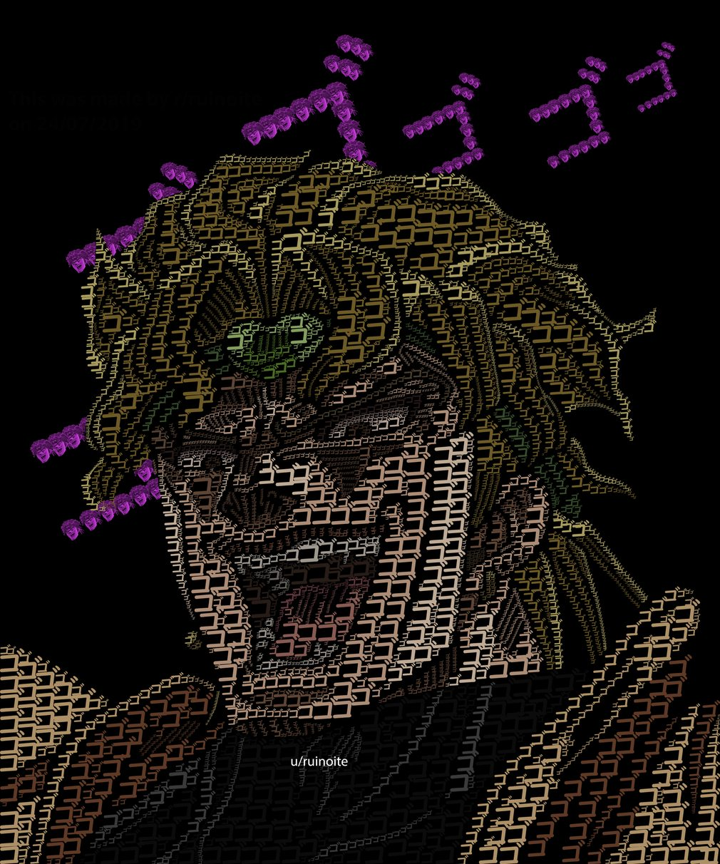 A very menacing Dio - meme