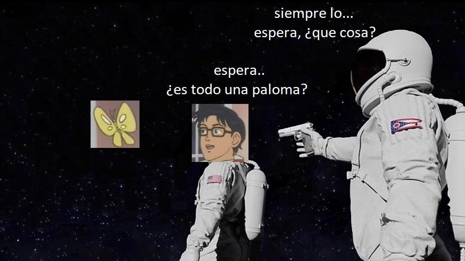paloma espacial - meme