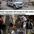 Marines be eating them Haitian crayons