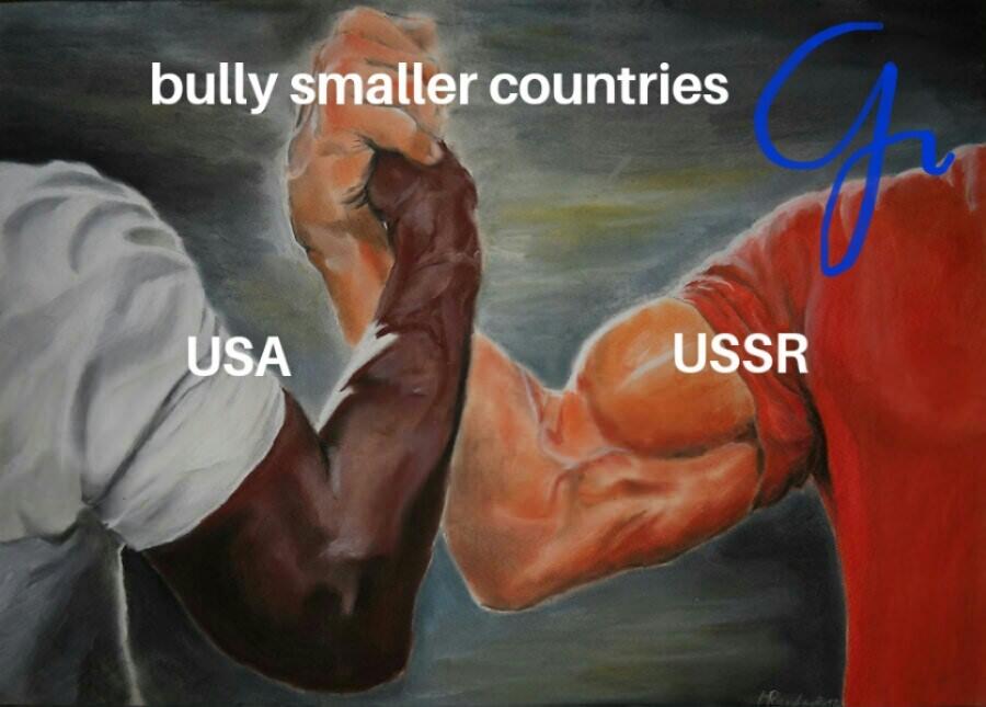 Everyone has things in common - meme