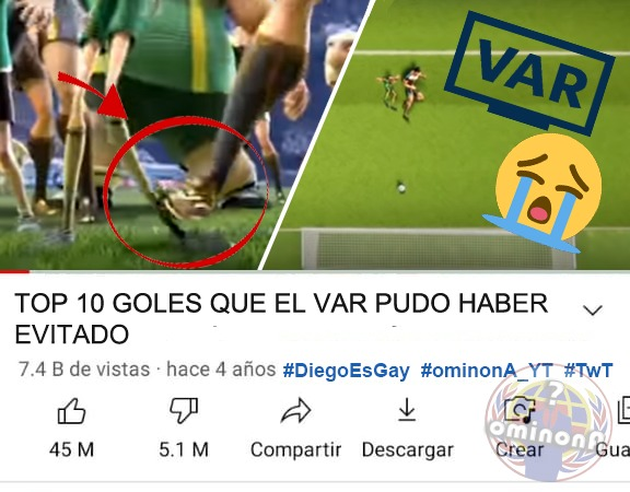 TOP 10 GOLES QUE EL VAR PUDO HABER EVITADO  - meme