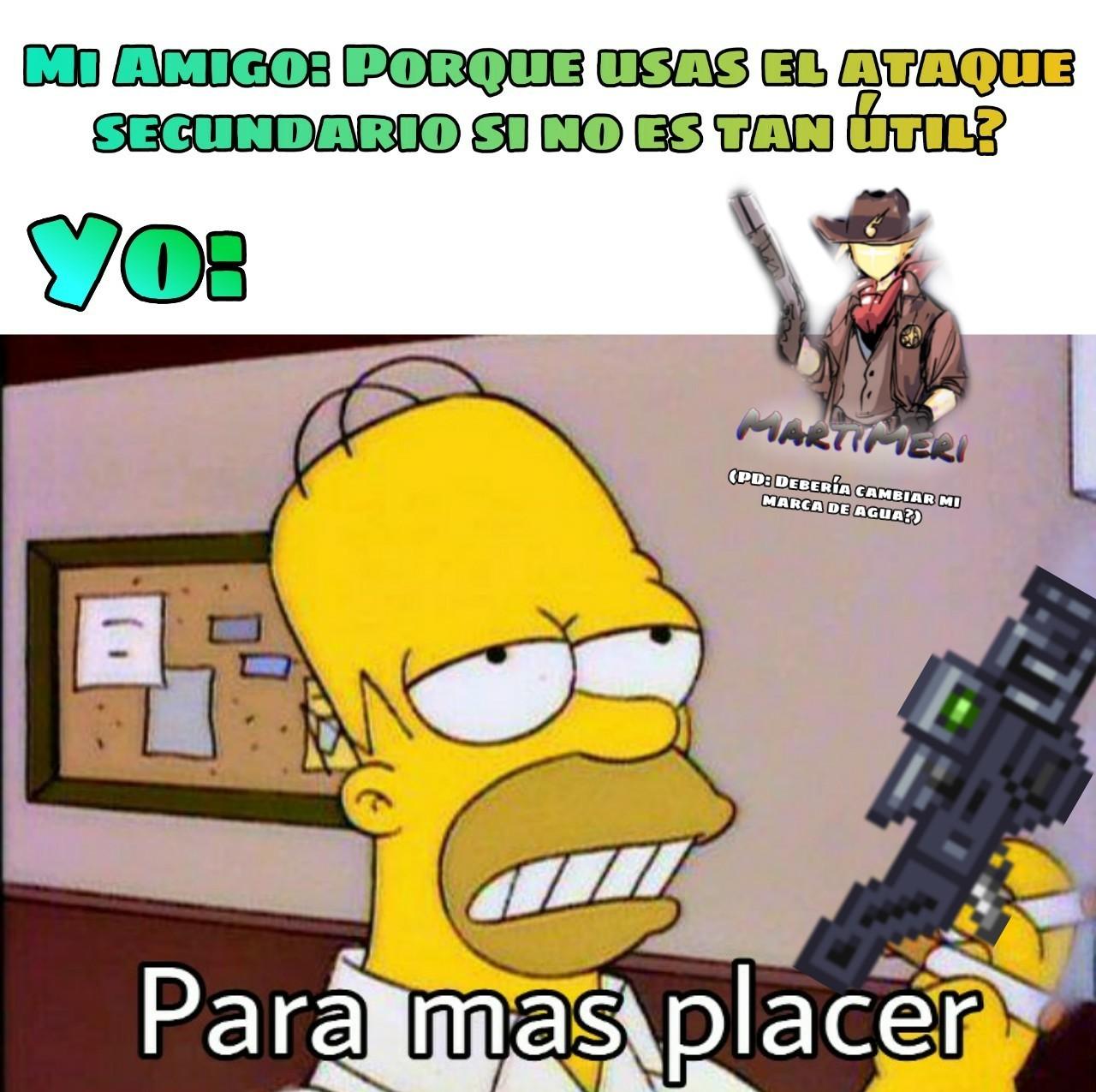 El atque secundario de esa arma es bien complicada de usar :happy: - meme