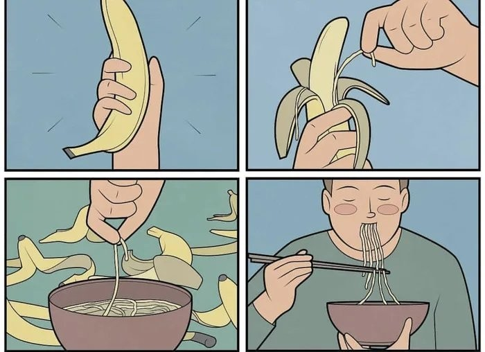 A melhor parte da banana - meme